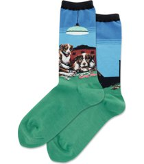 hot sox coolidges poker game crew socks