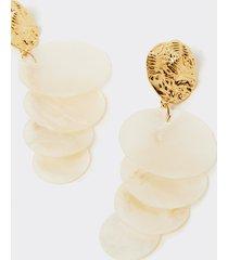motivi orecchini pendenti in conchiglia donna giallo