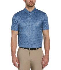 pga tour men's geo swing print polo shirt