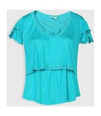 camiseta love secret amamentação azul