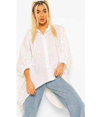 oversized blouse met rug strik, white