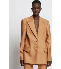 proenza schouler slub suiting blazer 00919 camel/brown 6