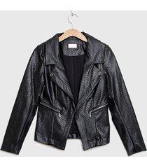 chaqueta ash textura negro - calce regular