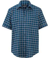 overhemd men plus petrol::bruin