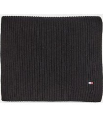 tommy hilfiger men's cotton scarf black -