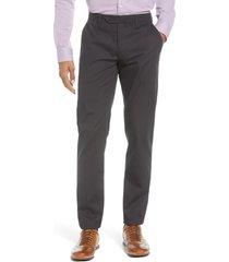 men's ted baker london sammual slim fit textured dress pants, size 34 - grey