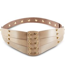 una burke designer women's belts, taupe back detail belt