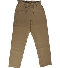 bonpoint military green trousers