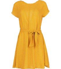 jurk met print azulay  geel