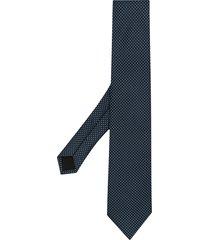 boss hugo boss micro-patterned tie - blue
