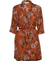jacket 3/4s kort klänning orange rosemunde