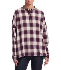 flint oversized plaid cotton shirt
