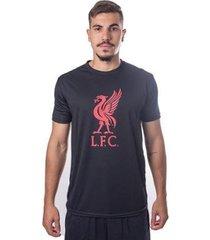 camiseta liverpool liver bird preta - masculino