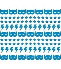 adesivo de parede decohouse batboy azul - azul - dafiti