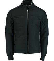 bos bright blue tussenjas puff jacket blauw rf 20301ze05sb/290 navy