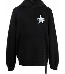 amiri star logo print hoodie