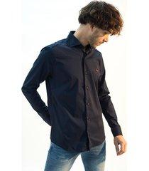 camisa azul bravo slim fit