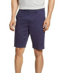 men's big & tall brax flat front bermuda shorts, size 44 - blue