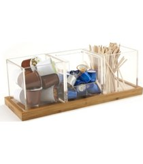 mind reader 3 piece acrylic condiment organizer