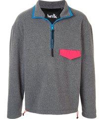 haculla graphic print wool sweatshirt - grey