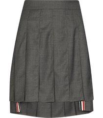 dark grey wool pleated skirt