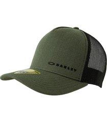gorra verde-negra oakley chal ten cap