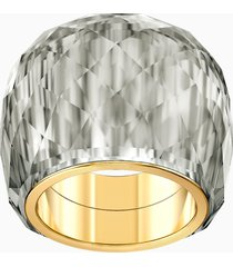 anello swarovski nirvana, grigio, pvd tonalitã oro