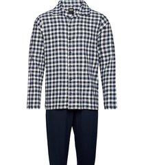 jbs pyjamas flannel pyjamas blå jbs