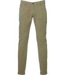 four.ten pantalon - slim fit - groen