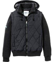 giacca con maniche in maglia (nero) - john baner jeanswear
