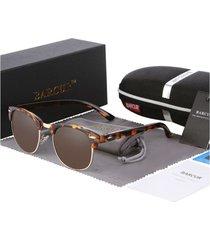 gafas lentes sol mujer ovaladas uv400 barcur 3016 carey
