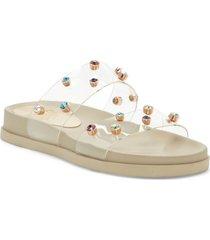 women's vince camuto partha platform slide sandal, size 6.5 m - beige
