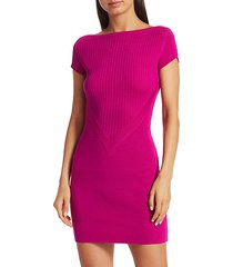 knit mini wool bodycon dress