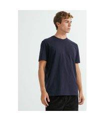 camiseta comfort em algodão peruano lisa | marfinno | azul | p