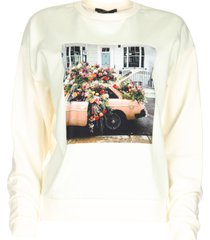 sweatshirt met opdruk mully  naturel