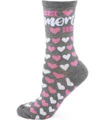 women's best mom ever bamboo crew socks