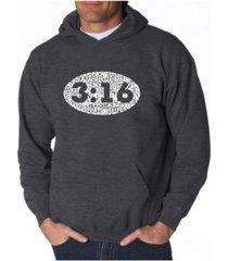 la pop art men's word art hoodie - john 3:16