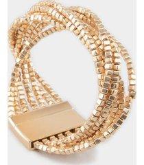 celeste cube wrap bracelet - gold