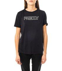 freddy t-shirt donna t-shirt manica corta knitted f9wtbt1.n