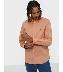 premium by jack & jones jprblaspring otto shirt l/s skjortor mörkorange