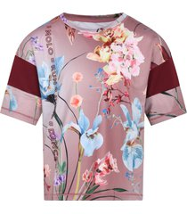 molo pink t.shirt odessa for girl with flowers