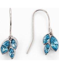 orecchini a lobo con cristalli swarovski® (argento) - bpc bonprix collection
