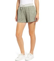 caslon(r) terry tie waist shorts, size x-large in green dune at nordstrom