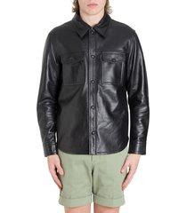 ami alexandre mattiussi leather shirt