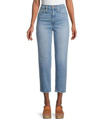 madewell women's classic straight cropped jeans - meadow land - size 31 (10)