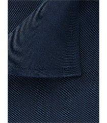 michaelis overhemd navy twill bloem contrast cutaway slim fit