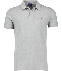 gant poloshirt regular fit grijs melange