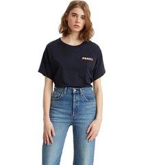 camiseta levis varsity fit preto