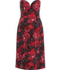 prada rose print dress