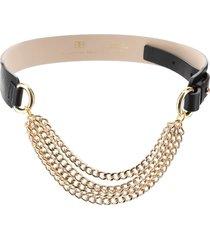 b-low the belt mavis leather belt with chains